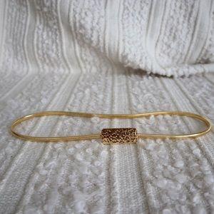 Retro gold tone stretchable belt